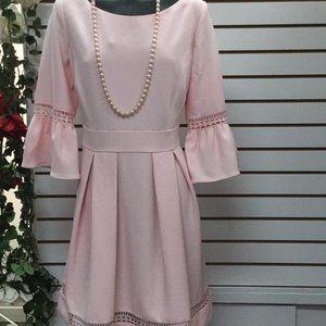 BNWOT Eliza J Womens bell Sleeve ,Flare Dress